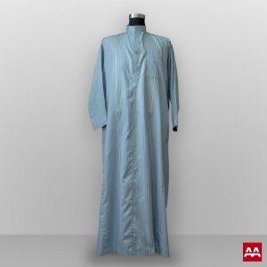 baju gamis pria lengan panjang kain halus warna biru muda