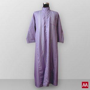 baju gamis pria lengan panjang terbaik terbaru warna ungu bagus