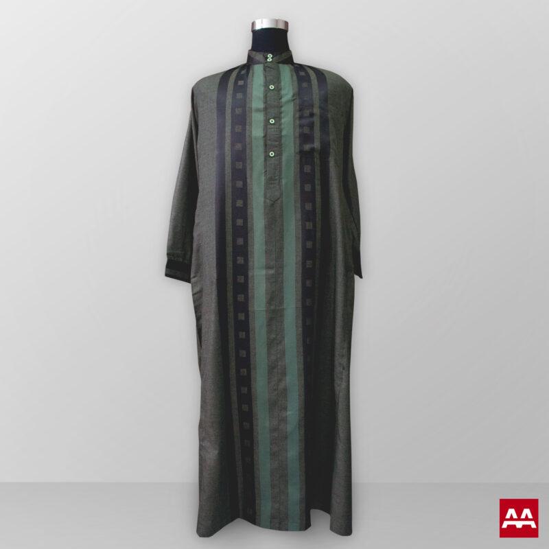 Baju gamis pria lengan panjang warna hijau gelap terbaik