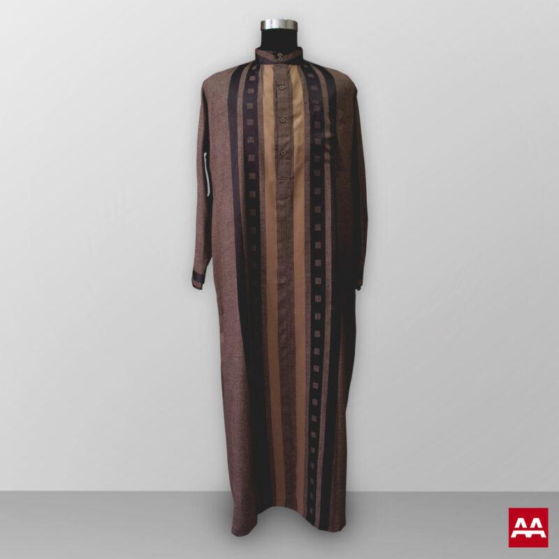 Baju gamis pria lengan panjang warna coklat tan terbaik