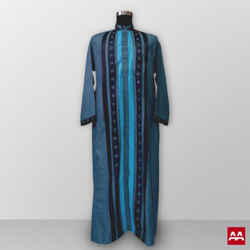 Baju gamis pria lengan panjang warna tosca kain halus terbaik